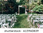 open air decorated area for the ... | Shutterstock . vector #615960839