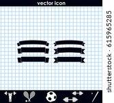 celebration curved ribbons. | Shutterstock .eps vector #615965285
