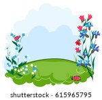 background summer lawn with...