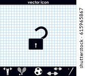 unlock icon. flat design style.