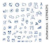hand drawn vector icons set... | Shutterstock .eps vector #615968291