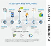 colorful timeline business... | Shutterstock .eps vector #615970997