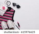 fashion design woman... | Shutterstock . vector #615976625