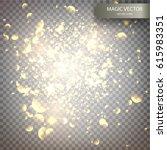 magic vector luminous... | Shutterstock .eps vector #615983351