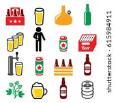 beer  brewery  drinking alcohol ... | Shutterstock .eps vector #615984911