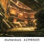 digital illustration of... | Shutterstock . vector #615985655