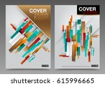 abstract cover design template... | Shutterstock .eps vector #615996665
