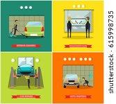 vector set of car service...   Shutterstock .eps vector #615998735