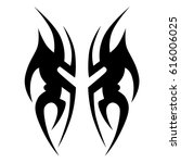 tattoo sketch tribal vector... | Shutterstock .eps vector #616006025