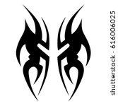 tribal tattoo art designs.... | Shutterstock .eps vector #616006025