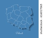 poland region map  blue with...   Shutterstock .eps vector #616017065