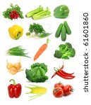 nice fresh greens and... | Shutterstock . vector #61601860