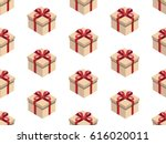 present seamless pattern.... | Shutterstock .eps vector #616020011