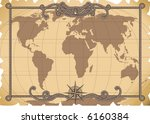 vector illustration   old map... | Shutterstock .eps vector #6160384