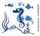 sea animals | Shutterstock .eps vector #61603840