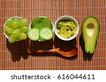 fresh fruit and vegetable... | Shutterstock . vector #616044611
