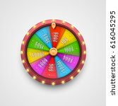 colorful fortune wheel.... | Shutterstock .eps vector #616045295
