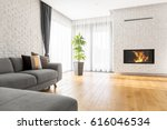 luxurious living room with... | Shutterstock . vector #616046534