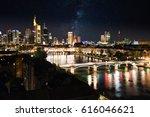 illuminated skyline of... | Shutterstock . vector #616046621