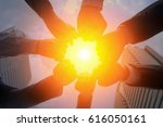 teamwork togetherness... | Shutterstock . vector #616050161
