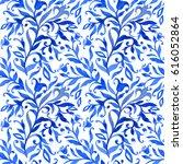 seamless flower pattern in the... | Shutterstock .eps vector #616052864