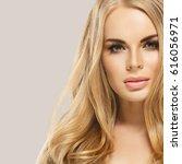 beauty woman face portrait....   Shutterstock . vector #616056971