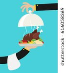 vector flat illustration with... | Shutterstock .eps vector #616058369