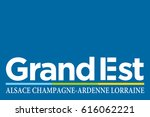 flag of grand est is a french... | Shutterstock .eps vector #616062221