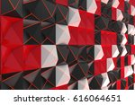 Pattern Of Black  White And Re...