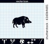 silhouette of the wild boar....   Shutterstock .eps vector #616064681