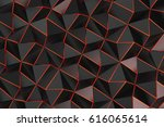 pattern of black pyramid shapes ... | Shutterstock . vector #616065614