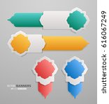set of 3d infographic tab... | Shutterstock .eps vector #616067249