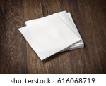 White Paper Napkin On Old...
