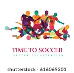 football  soccer  colorful... | Shutterstock .eps vector #616069301