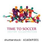 football  soccer  colorful...   Shutterstock .eps vector #616069301