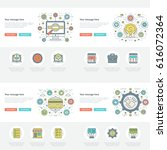 flat line business concepts set ... | Shutterstock .eps vector #616072364