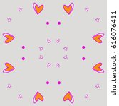 hearts pattern . hand drawn. | Shutterstock .eps vector #616076411