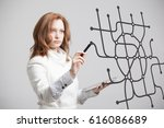 woman specialist and urban... | Shutterstock . vector #616086689