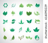 leaf icons set  vector... | Shutterstock .eps vector #616090229