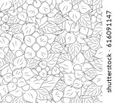 black and white seamless floral ... | Shutterstock .eps vector #616091147