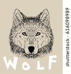 wolf head | Shutterstock .eps vector #616098989