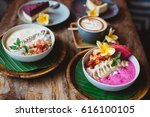healthy breakfast made of... | Shutterstock . vector #616100105
