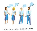business people group human... | Shutterstock .eps vector #616101575
