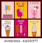 ice cream cards | Shutterstock .eps vector #616101977