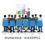 presentation and consultation... | Shutterstock . vector #616104911