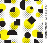 vector geometric seamless... | Shutterstock .eps vector #616111547