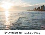 sunset gulf shores alabama | Shutterstock . vector #616124417