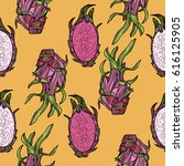 seamless pattern with... | Shutterstock .eps vector #616125905