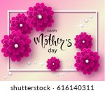 happy mothers day background... | Shutterstock .eps vector #616140311