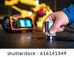 ultrasonic test to detect...   Shutterstock . vector #616141349